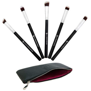 mini Kabuki Makeup Brush Set with Case