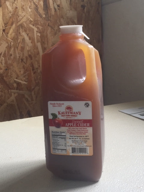 half gallon apple cider
