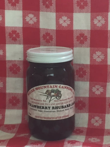 strawberry rhubarb jam 8oz