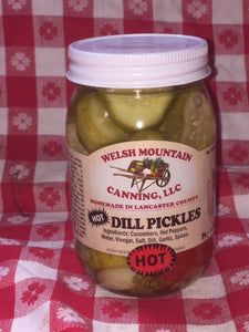 hot dill pickles 16oz