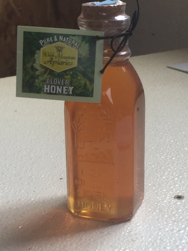 8 oz muth style bottle pure raw honey