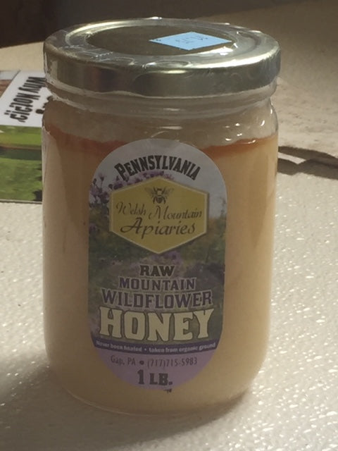1 lbs mountain flower pure raw honey