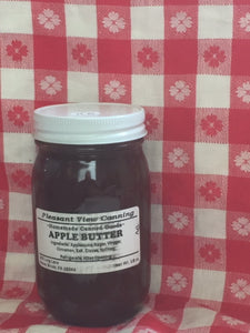 An image of a 16 oz. glass jar of apple butter