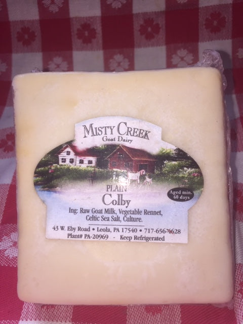 Goat milk Colby cheese 8oz