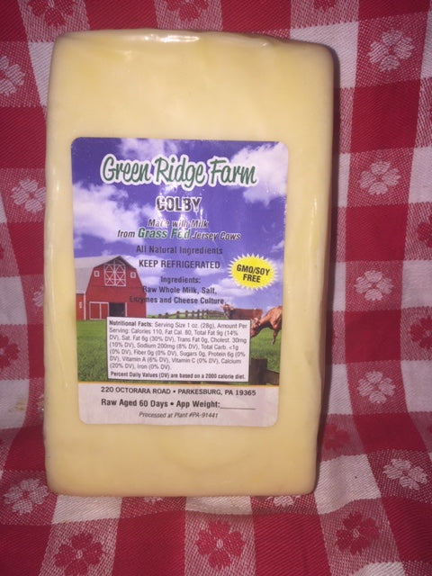 Colby cheese non GMO 8oz