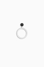 ONE PEARL ONYX RING