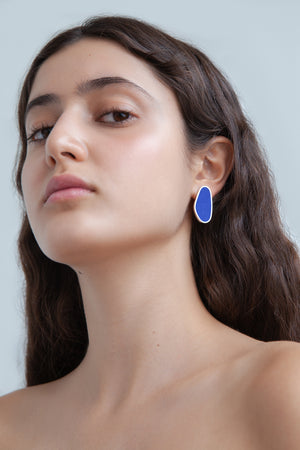 SWIMMING POOL LONG EARRINGS
