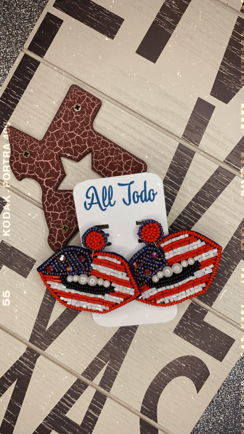 July4th Kiss Earrings