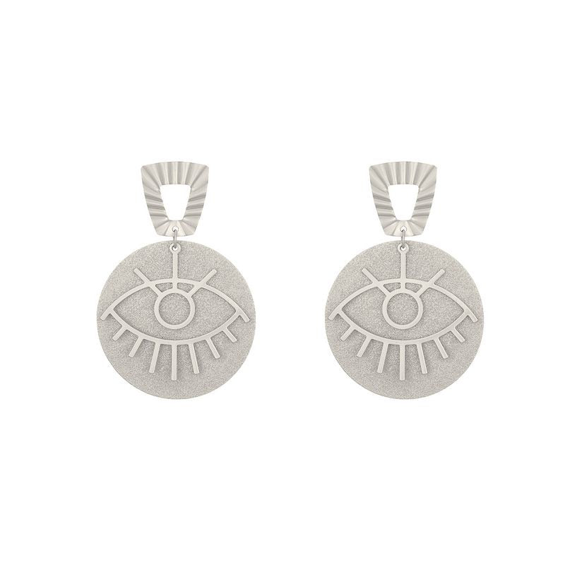 Plata ojo Earrings