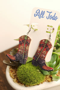 Boot day earrings