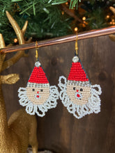 Load image into Gallery viewer, Beaded Santa Earrings