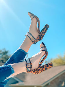 Chloe Cheetah Heel shoe