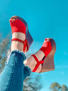 Red Spring Heel shoe