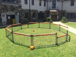 GaGa ball pit in club courtyard