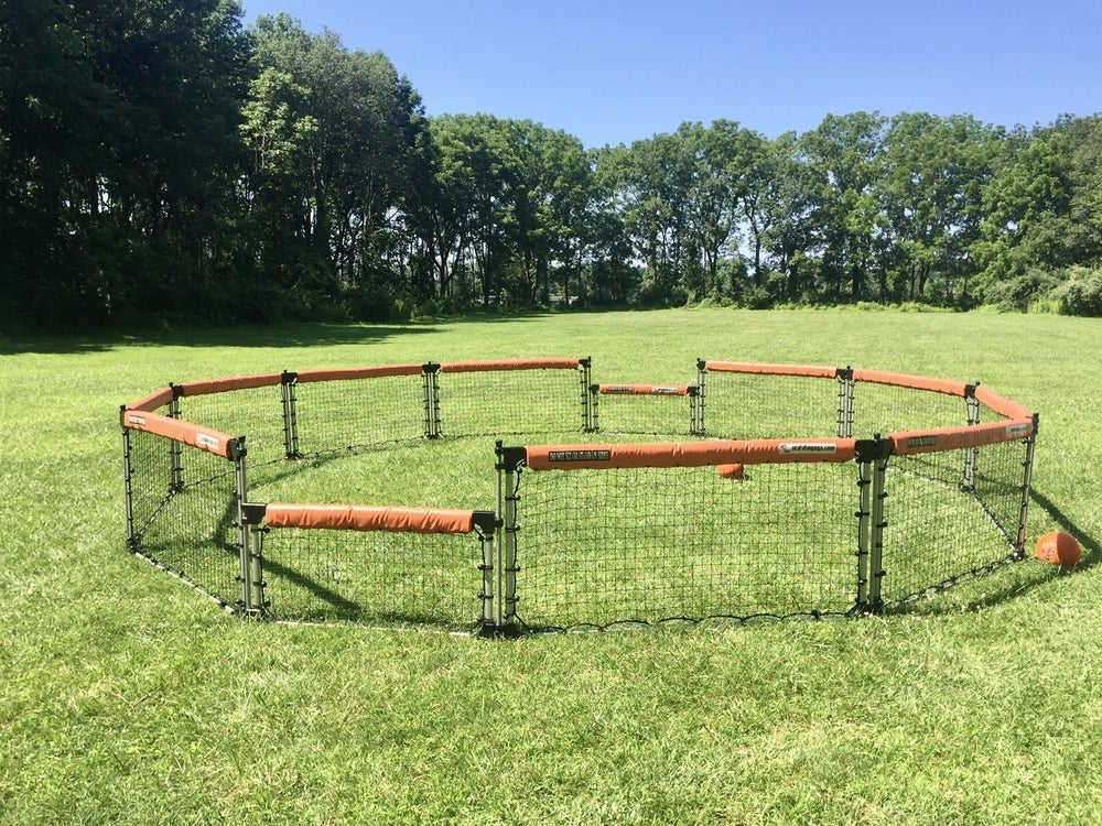 GaGa ball pit on grass
