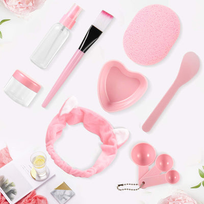 Facial Mask Bowl 10 in 1 Cat Shape Headband Spray Brush