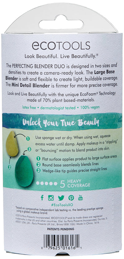 EcoTools Perfecting Blender Duo, 2 Beauty Sponges