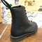 SOLOVAIR - BLACK GREASY LEATHER BOOT - 551 (8 EYELET) - The British Boot Company LTD
