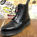 LOAKE - BLACK SMOOTH LEATHER BROGUE BOOT (860) - The British Boot Company LTD