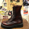 GRINDERS - ALICE X BURGUNDY RUB OFF LEATHER BOOT WITH DOUBLE SOLE UNIT (10 EYELET) - The British Boot Company LTD