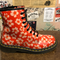 "DR MARTENS - ORANGE ""PANSY"" FLORAL BOOT (8 EYELET) - The British Boot Company LTD"