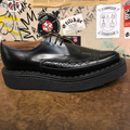 GEORGE COX - BLACK LEATHER POINTED TOE CREEPER (3705) - The British Boot Company LTD