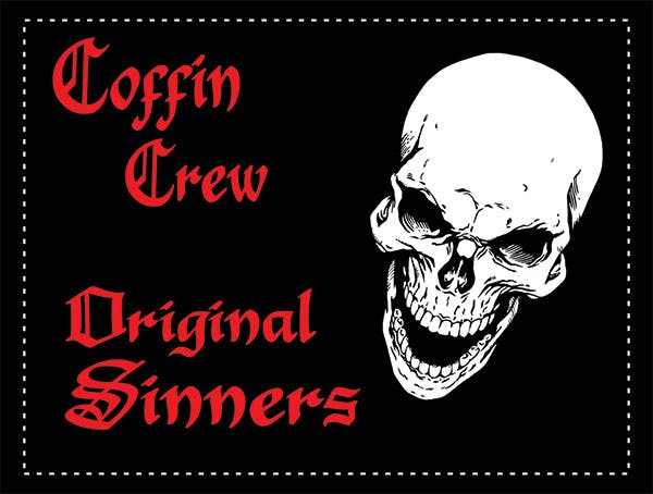 "Coffin Crew Original Sinners 4x3"" Sticker"