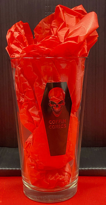 Coffin Comics Pint Glass