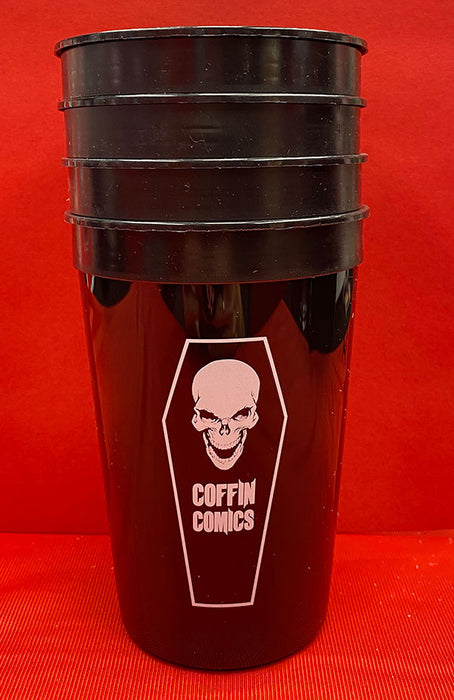 Coffin Comics Stadium Cups (Set of 4)