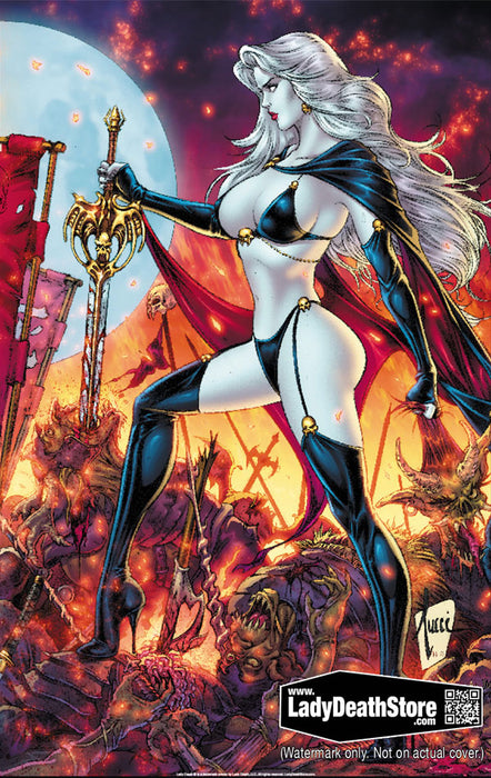 "Lady Death: 25th Anniversary Independence 11x17"" Print"