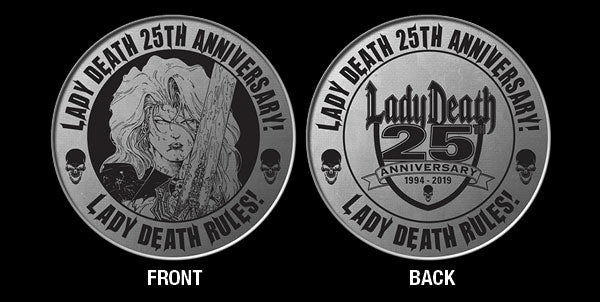 Lady Death 25th Anniversary Challenge Coin