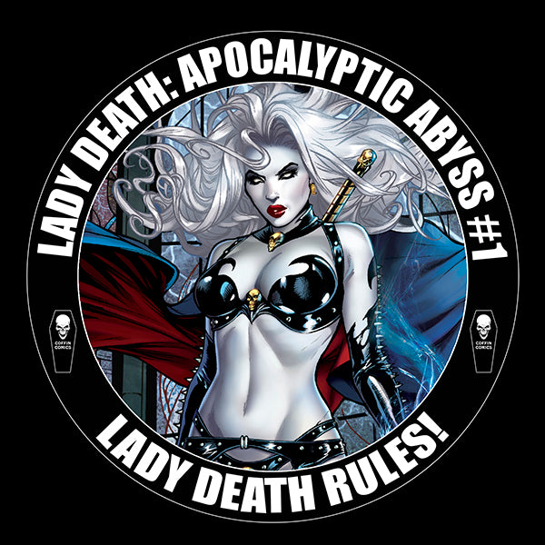 Lady Death: Apocalyptic Abyss Campaign Vinyl Sticker