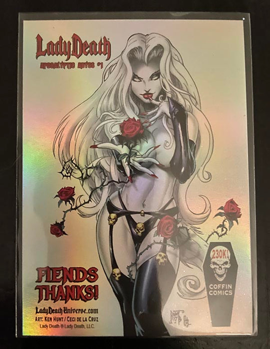 "Lady Death: Apocalyptic Abyss ""Fiends Thanks!"" Holo-Foil Trading Card"