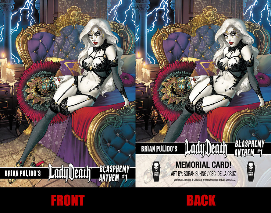 Lady Death: Blasphemy Anthem Memorial Trading Card #1