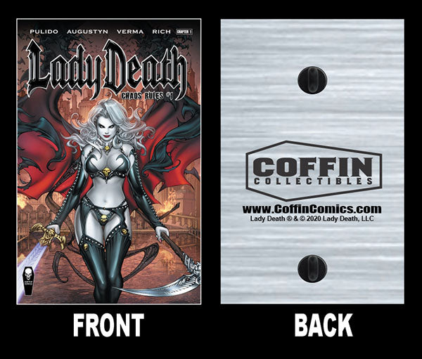 "Lady Death: Chaos Rules 2"" Comic Cover Pin"
