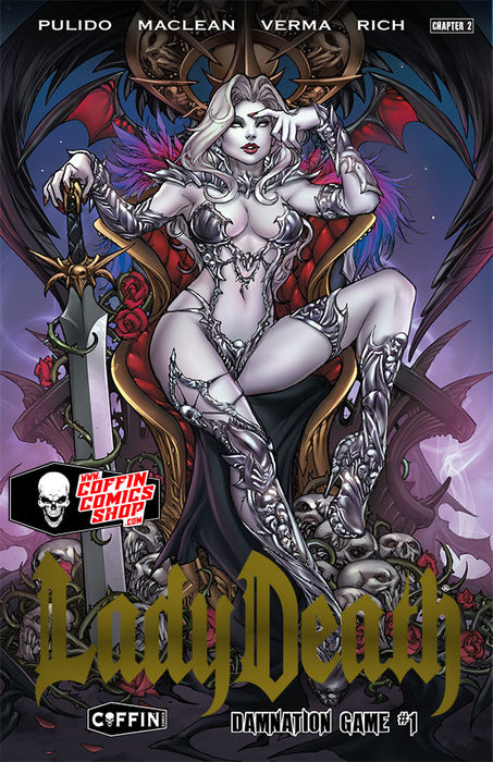 Lady Death: Damnation Game - Premiere Edition - Gold Foil