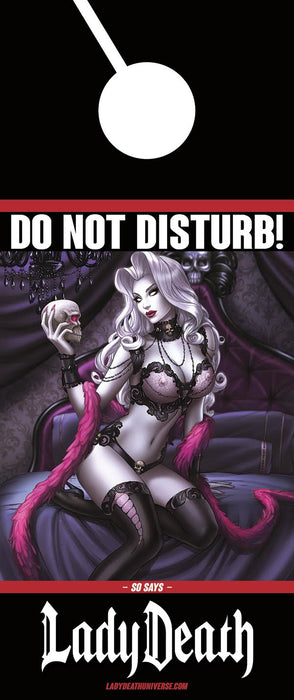 "Lady Death ""Do Not Disturb"" Door Hanger"