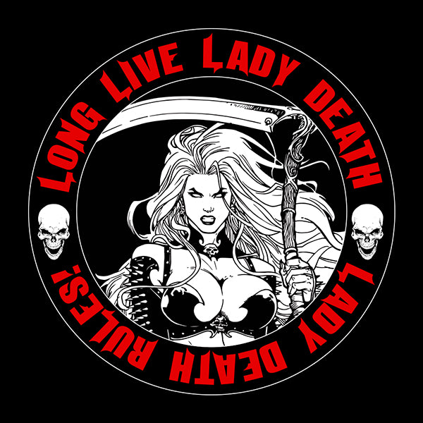 Lady Death: Dark Queen Vinyl Sticker (Nightmare Symphony)