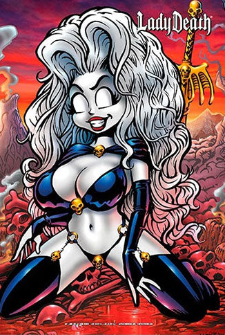 "Lady Death: Doomy 6x9"" Mini Print"
