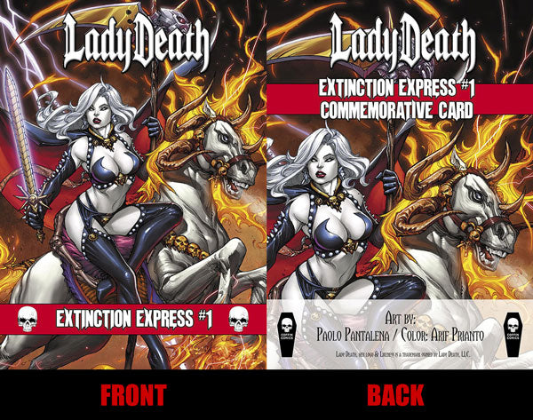 Lady Death: Extinction Express Commemorative Trading Card
