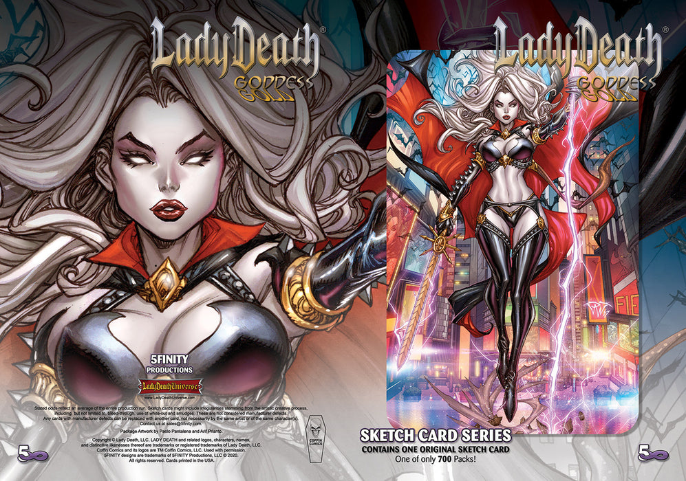 Lady Death: Goddess Gold Series Sketch Card