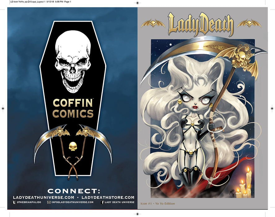 Lady Death: Icon #1 - Yoyo Edition Uncut Cover Sheet