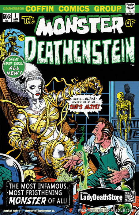 Lady Death: Mischief Night #1 - Monster of Deathenstein Edition
