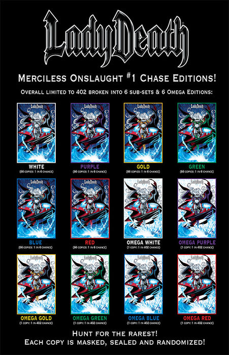 Lady Death: Merciless Onslaught #1 - Chase Edition