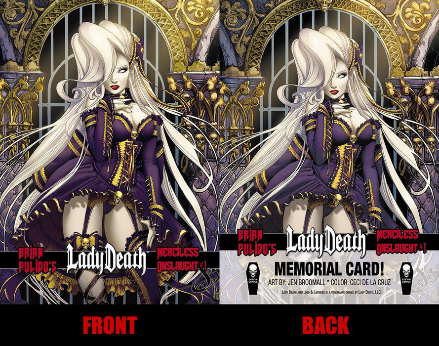 Lady Death: Merciless Onslaught Memorial Trading Card #1