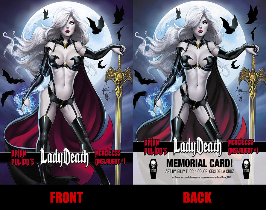 Lady Death: Merciless Onslaught Memorial Trading Card #2