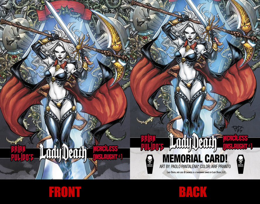 Lady Death: Merciless Onslaught Memorial Trading Card #3