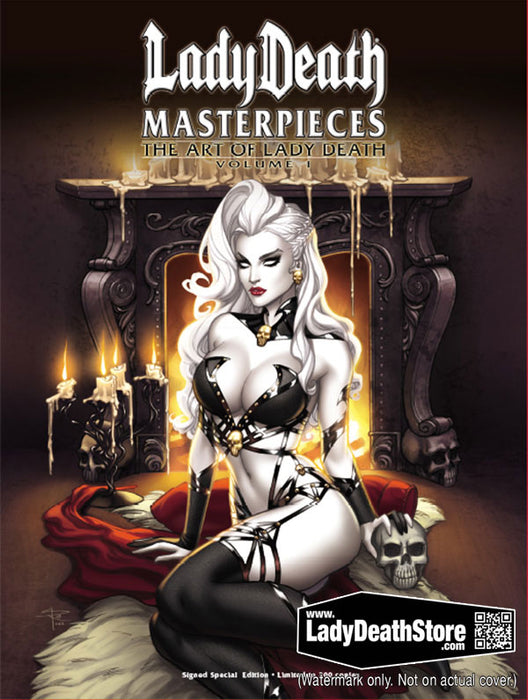 Lady Death: Masterpieces - The Art of Lady Death Vol. 1 Hardcover Signed Special Edition
