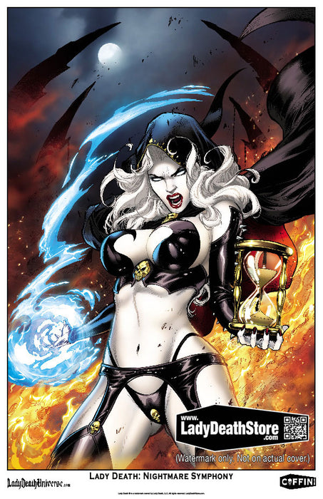 "Lady Death: Nightmare Symphony - Commemorative 11x17"" Print"