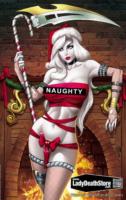 "Lady Death: Naughty Candy Cane 11x17"" Print"